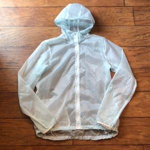 Nike cyclone sea foam dot packable jacket lg